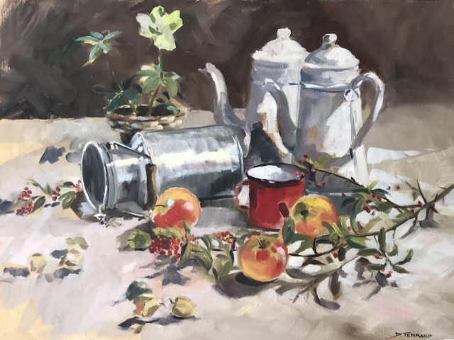 Jules Bitrot Gourmand Cafetière et Pommes