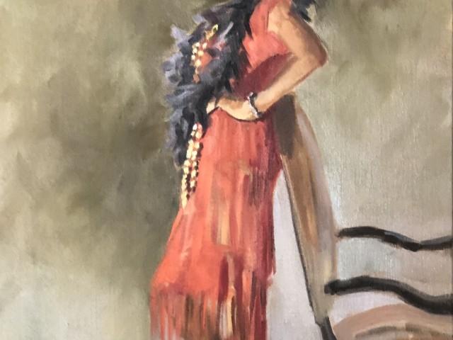 Restaurant Jules Augustine et sa robe rouge